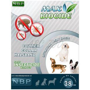 MAX BIOCIDE Antiparazitný obojok pre malé psy- 38 cm
