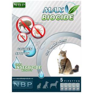 MAX BIOCIDE Antiparazitné kvapky pre mačky, 5 ks