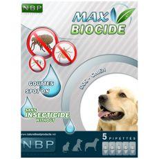 MAX BIOCIDE Antiparazitné kvapky pre psy, 5 ks