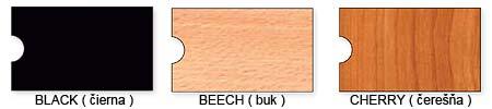 Vzorkovník dostupných farieb DIVERSA stolíkov