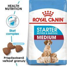 Royal Canin Medium Starter Mother&Babydog granule pre gravidné alebo dojčiace suky a šteňatá 4 kg