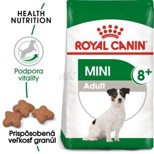 Royal Canin Mini Adult 8+ granuly pre dospelé starnúce psy 800 g