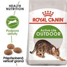 Royal Canin Outdoor granule pre mačky s častým pohybom vonku 2 kg